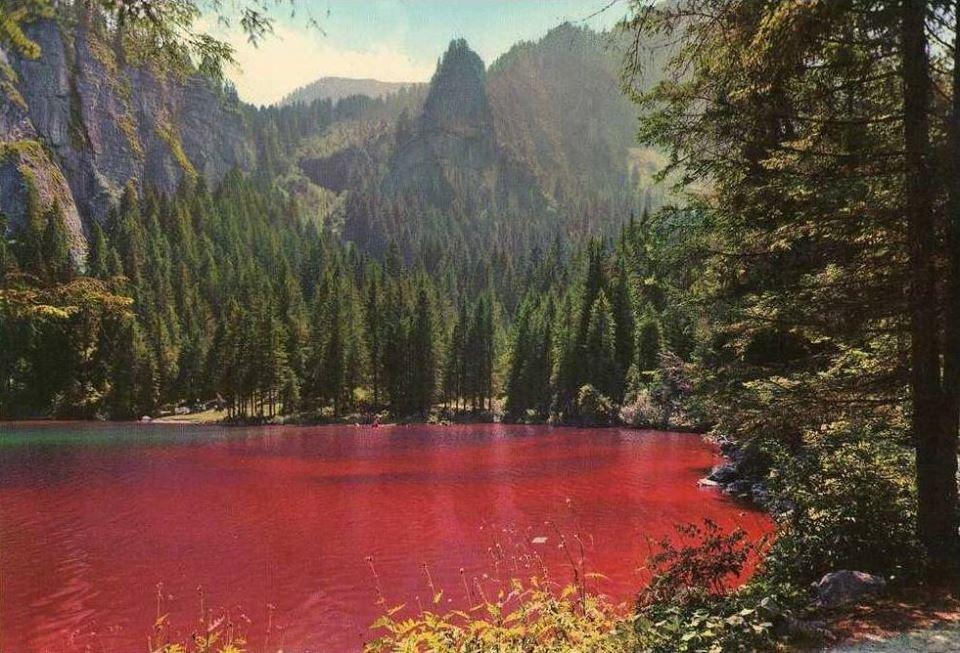 Lago di Tovel rosso