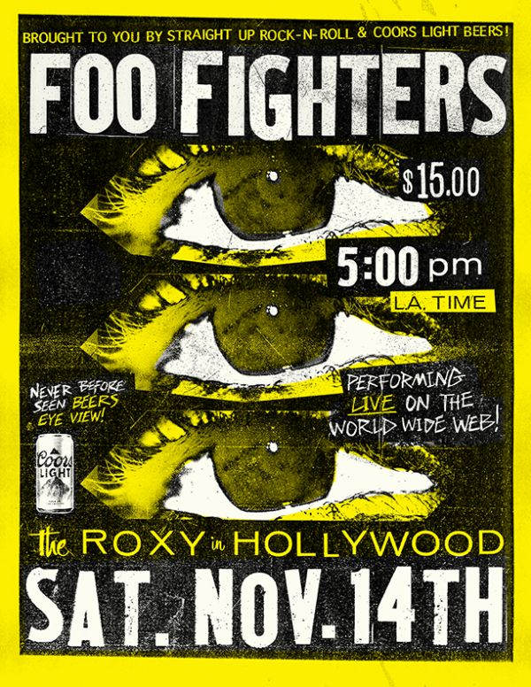 I Foo Fighters in concerto a scopo benefico
