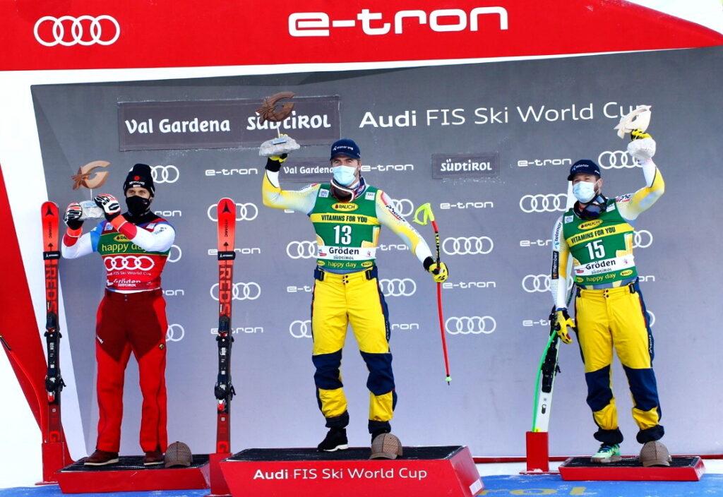 SuperG Val Gardena 2020 podio