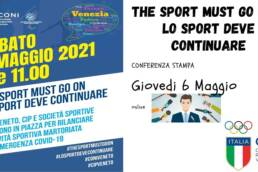 CONI The sport must go on